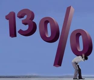 Размер налога с физических лиц